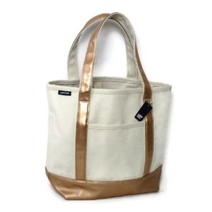 Lands' End Line Open Top Medium Tote Canvass Bag